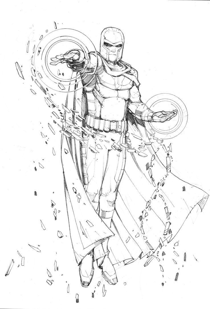 737x1083 Magneto Sketch By Max Dunbar On Drawing Examples