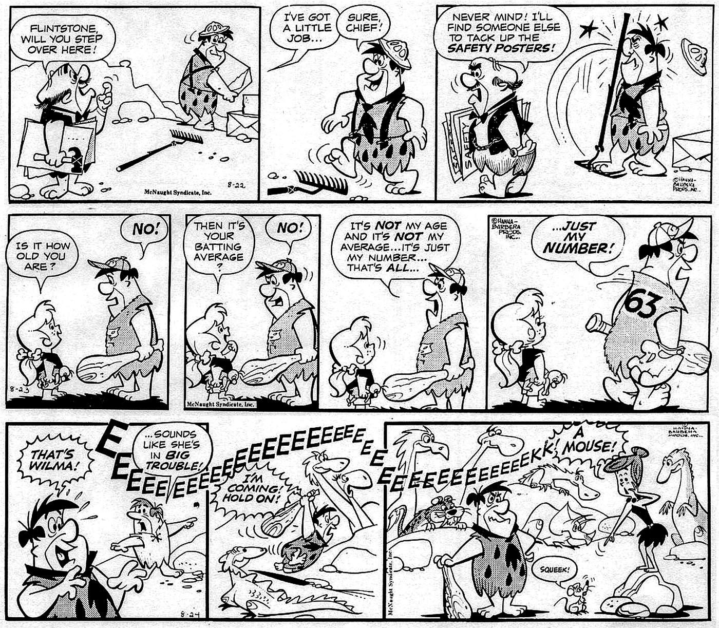 1400x1223 Inbetweens Gene Hazelton's Flintstones Comic Strip