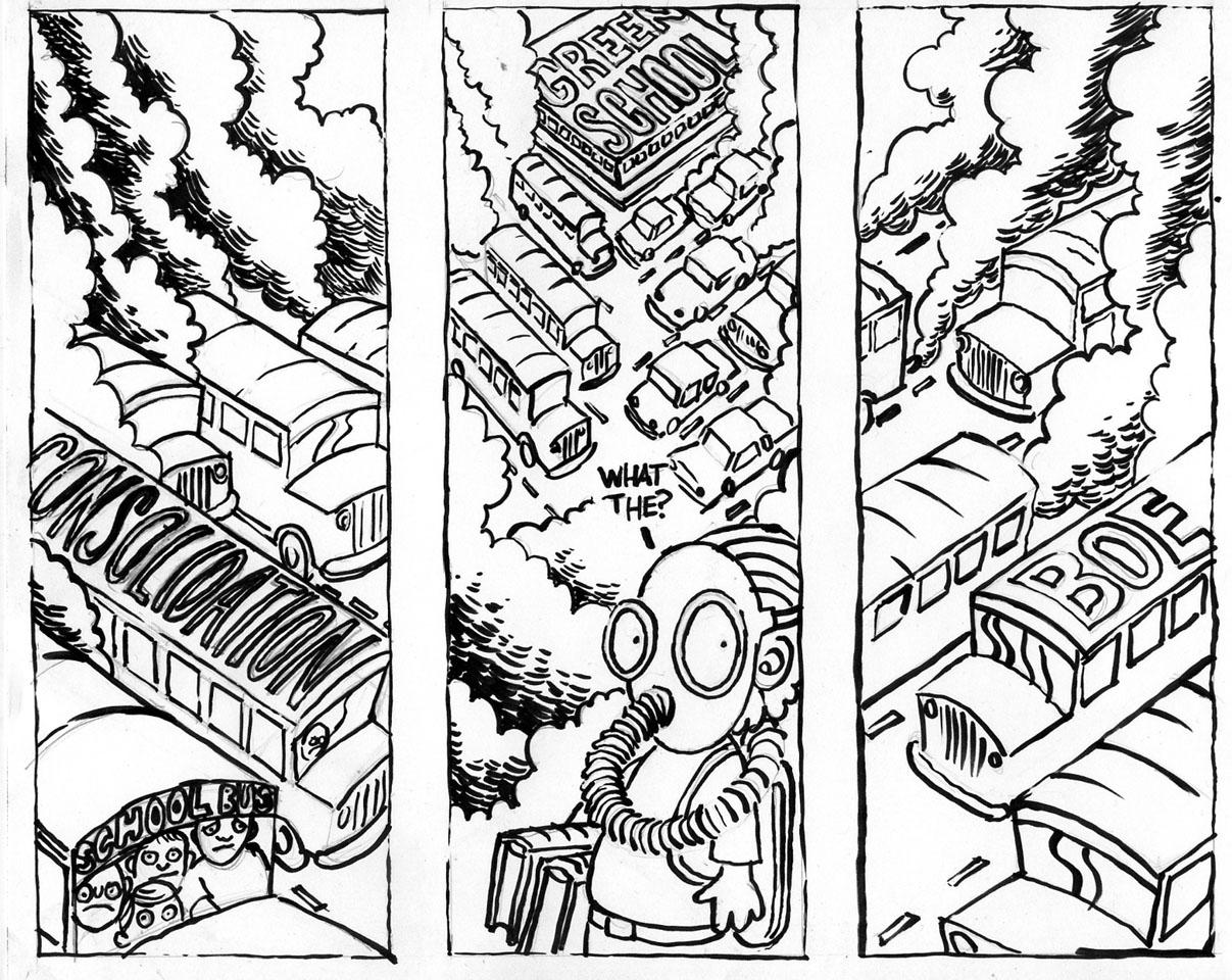 1207x960 Green School Cartoons By Jamie Lester New Woodburn Community