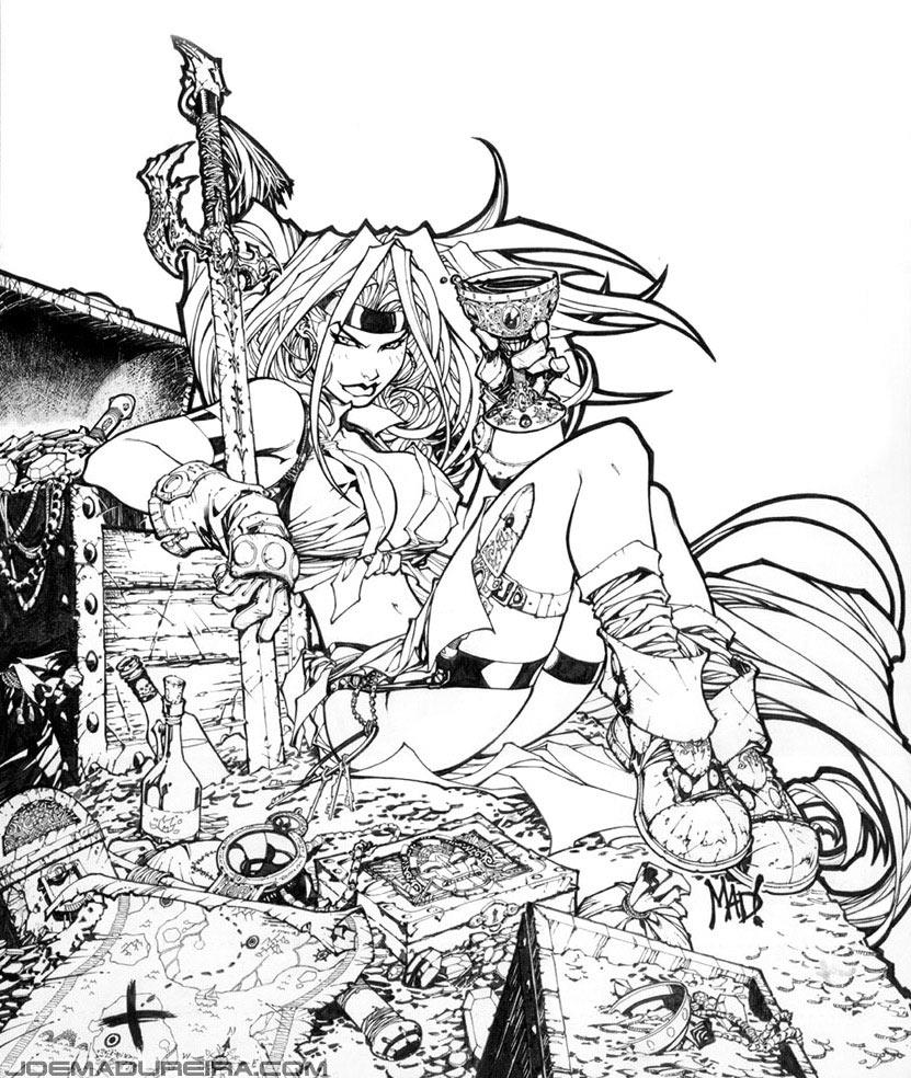 831x984 Red Monika Various Comics And Cartoons Demon Art