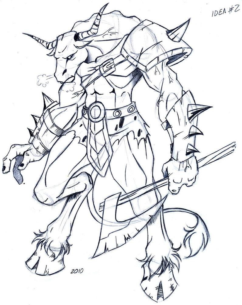 796x1004 Minotauro Fantasy Minotaur Tatt, Drawing Sketches