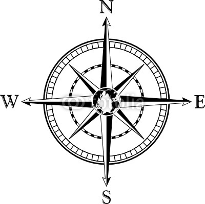 400x399 Compass Rose Clipart Black And White Letters Example
