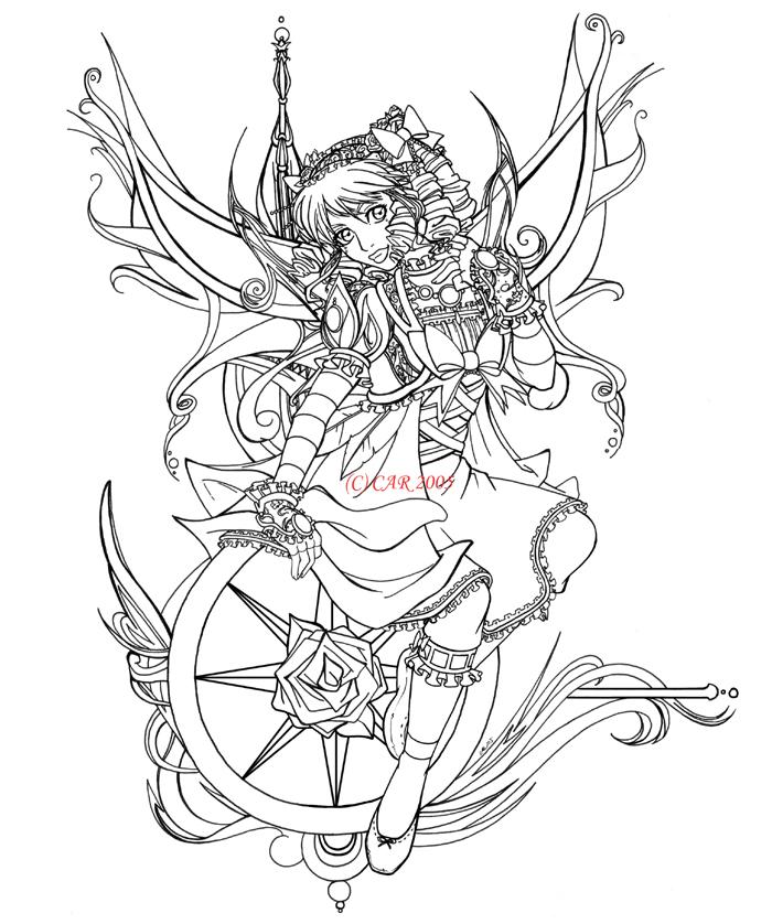 700x838 Compass rose +line art+ by DigiAvalon on DeviantArt