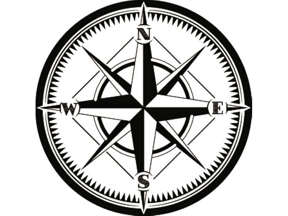 931x700 Nautical Compass