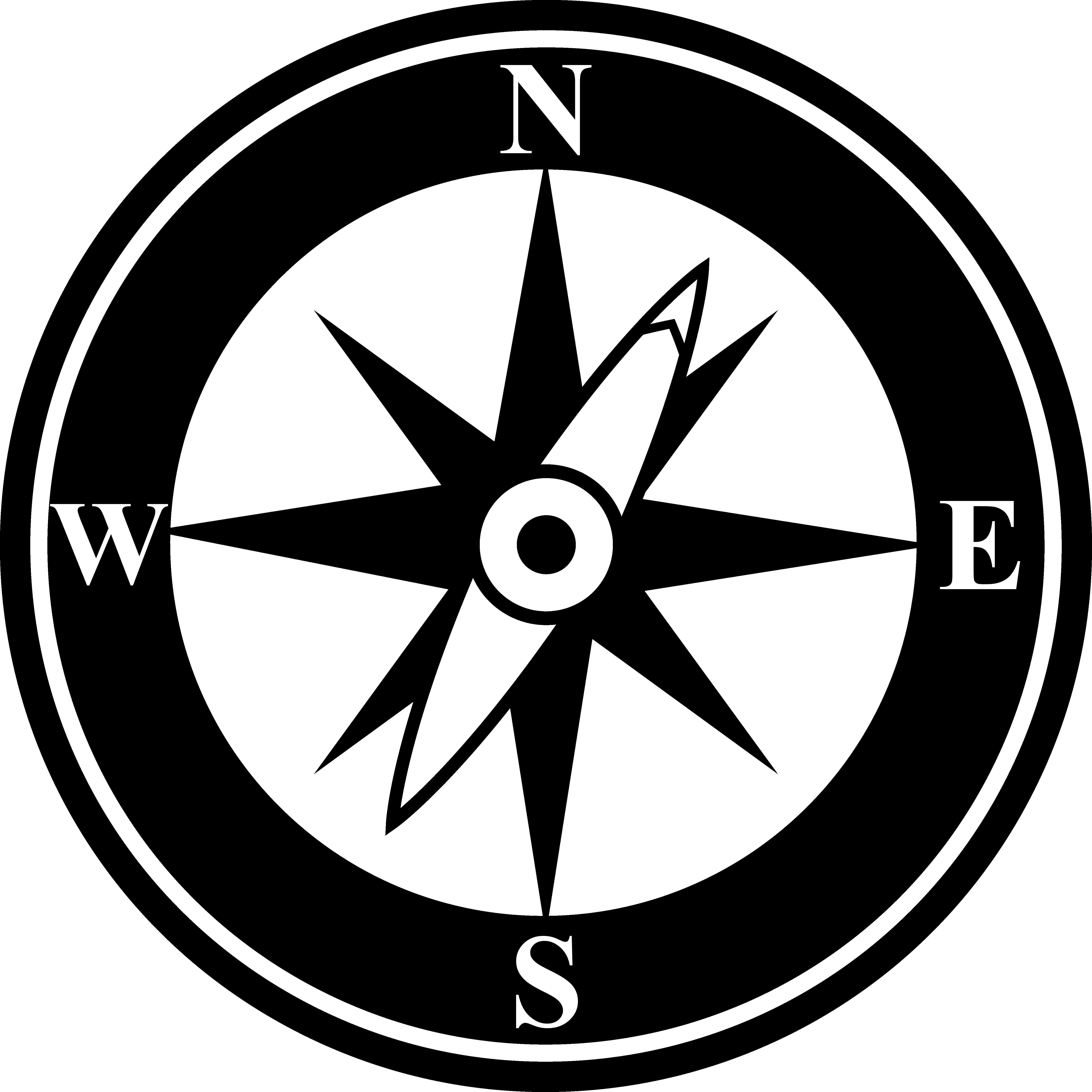 5303x5303 Black Compass Silhouette