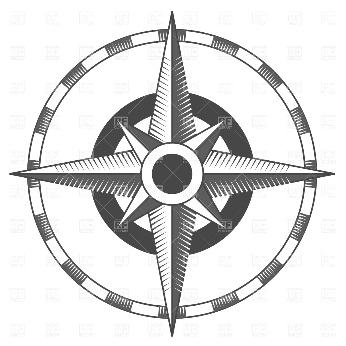 1200x1200 Vintage Compass Rose Royalty Free Vector Clip Art Image