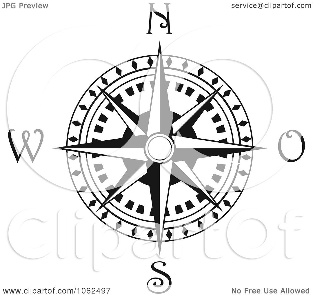 1080x1024 Clipart Compass Rose In Black And White 3