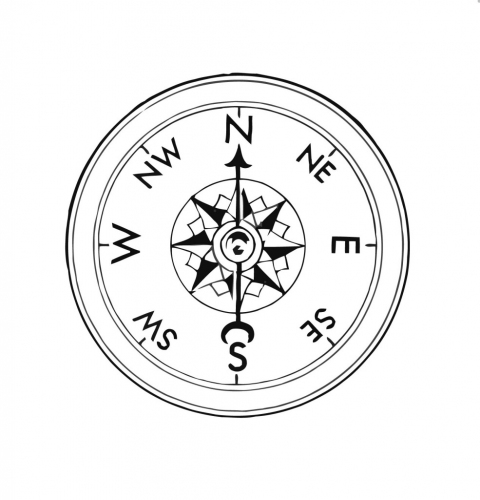 480x500 Compass Coloring Pages