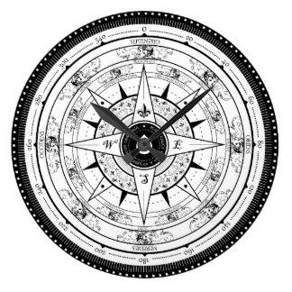 324x324 Compass Rose Wall Clocks Zazzle