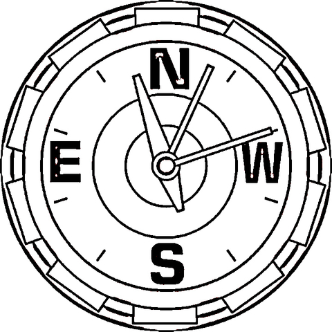 480x480 Compass Coloring Page Free Printable Coloring Pages