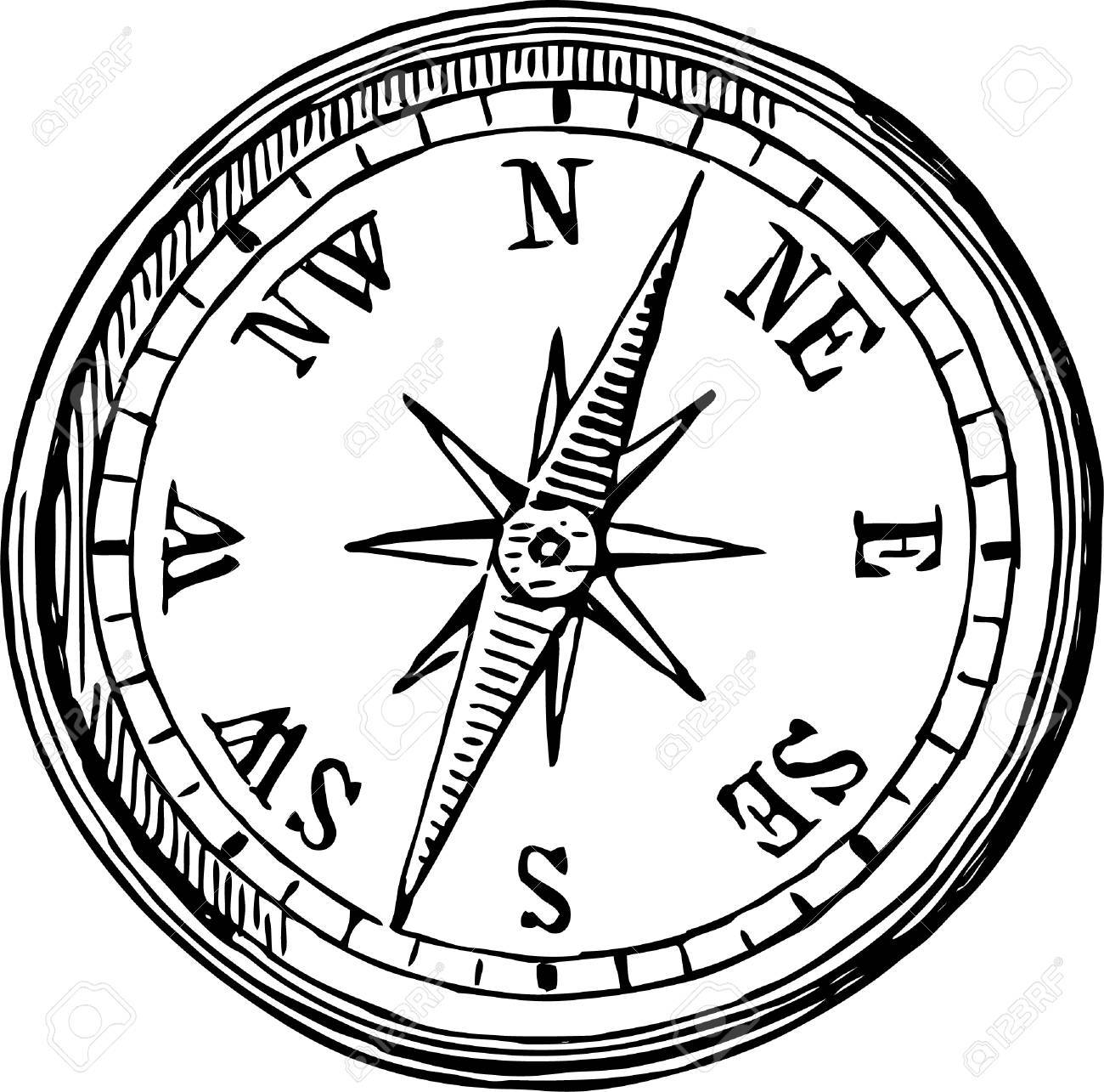 Compass Clock Drawing At Getdrawings Free Download