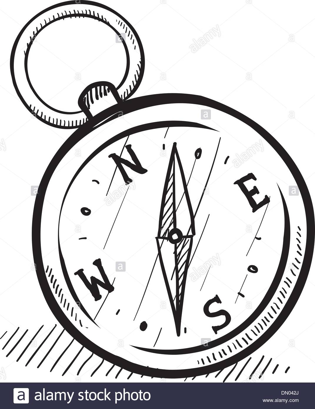 1071x1390 Magnetic Compass Vector Sketch Stock Vector Art Amp Illustration
