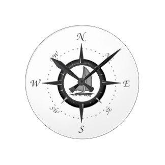 324x324 Rose Compass Wall Clocks Zazzle.co.uk