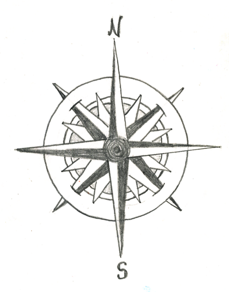 736x939 Roses Compass And Clock Tattoo Designs Photo