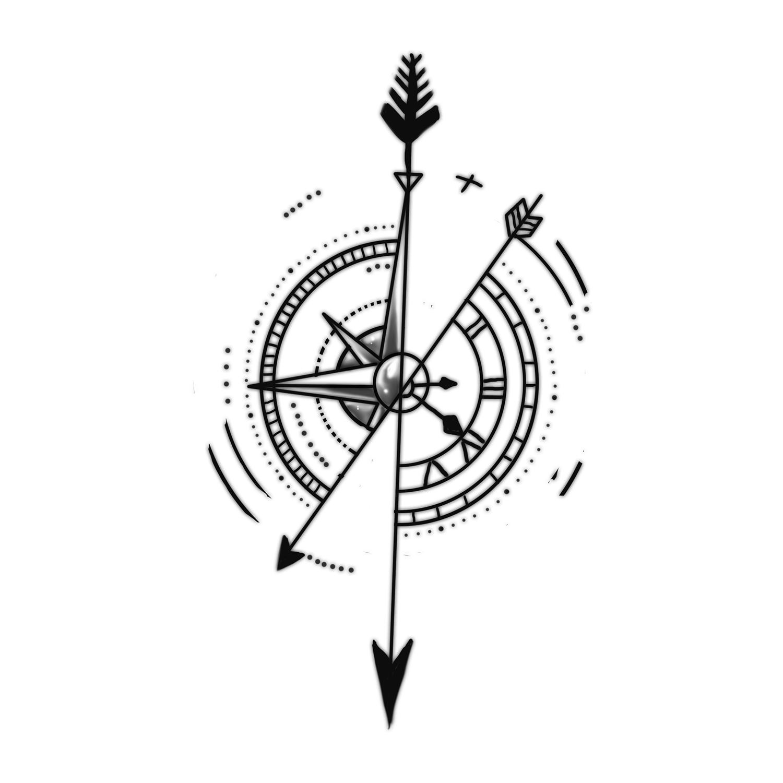 Compass Clock Drawing At GetDrawings