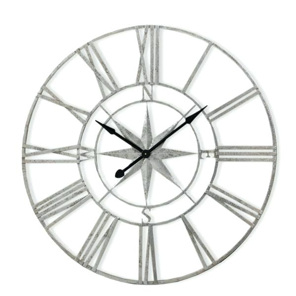 600x600 Skeleton Wall Clocks Large White Skeleton Wall Clock Large Silver