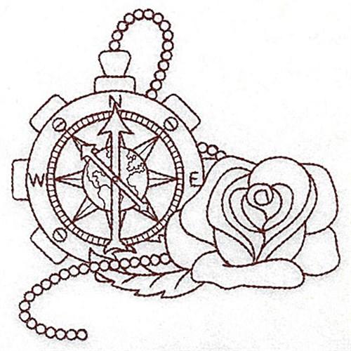 500x500 Steampunk Compass Embroidery Design Annthegran