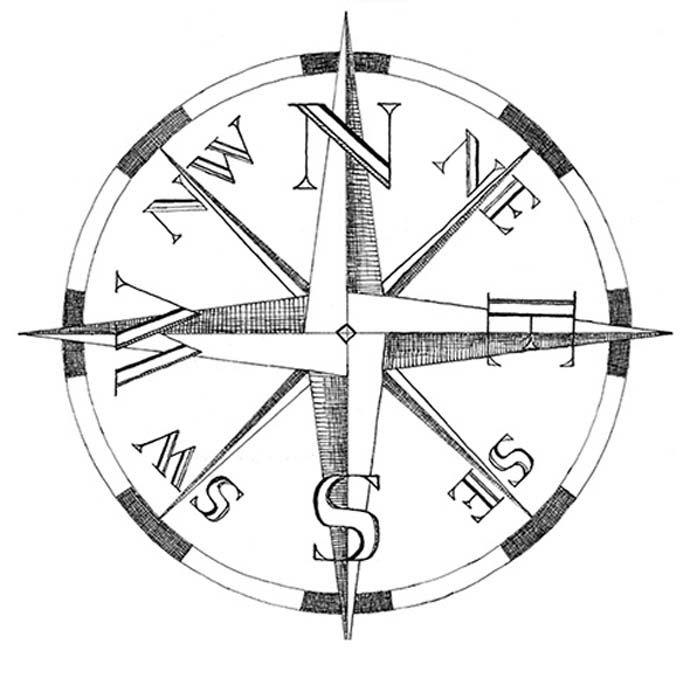 690x699 Compass Pillow