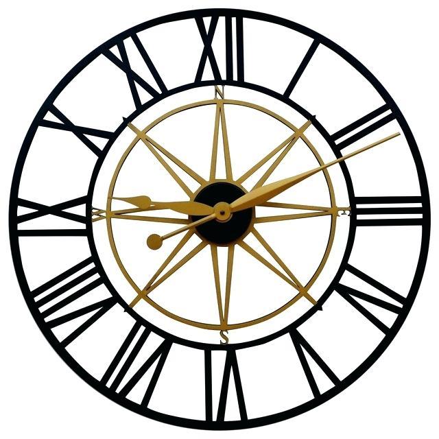640x640 Compass Wall Clock Newyorkmovie.co