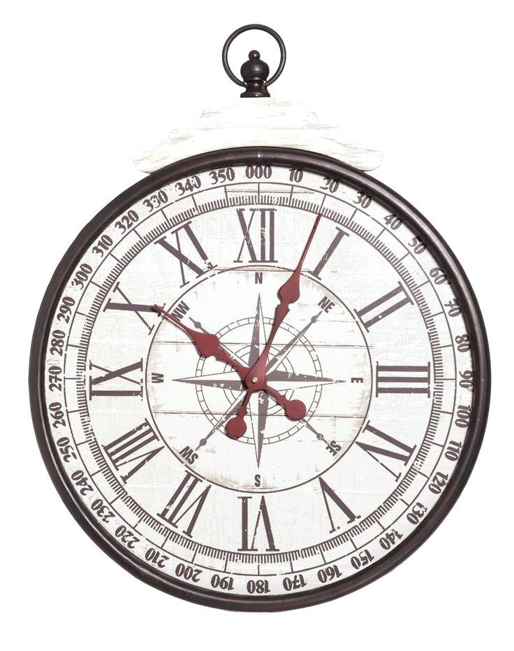 736x931 Compass Wall Clock