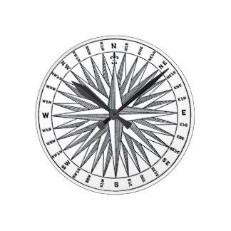 324x324 Antique Compass Wall Clocks Zazzle