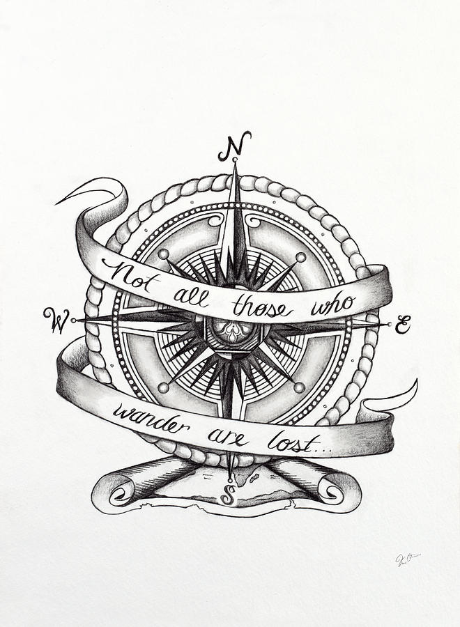 660x900 Compass Drawing Drawing By Jon Cotroneo Art Journal