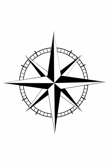467x700 Compass Tattoo Meaning