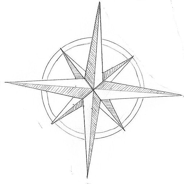 615x615 Cool Compass Rose Drawing