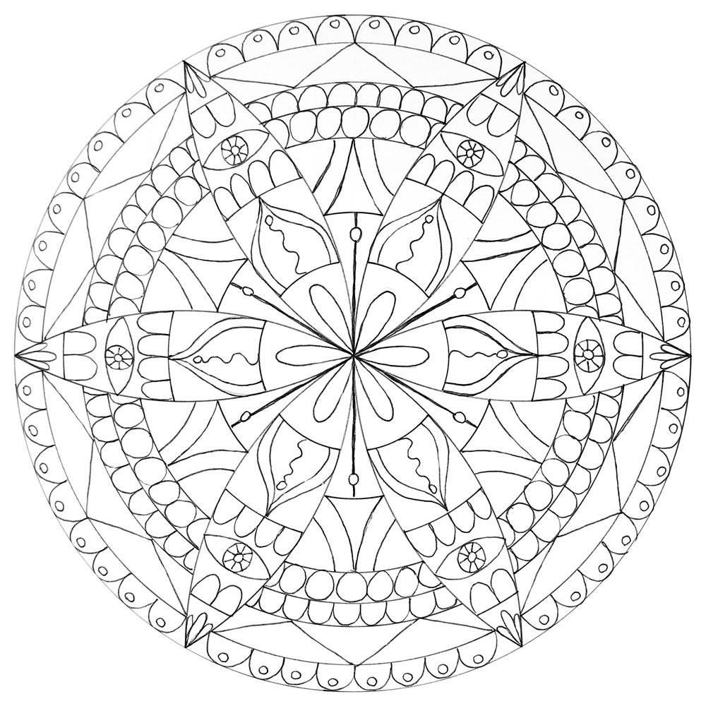 1000x1000 How To Draw A Mandala With A Compass