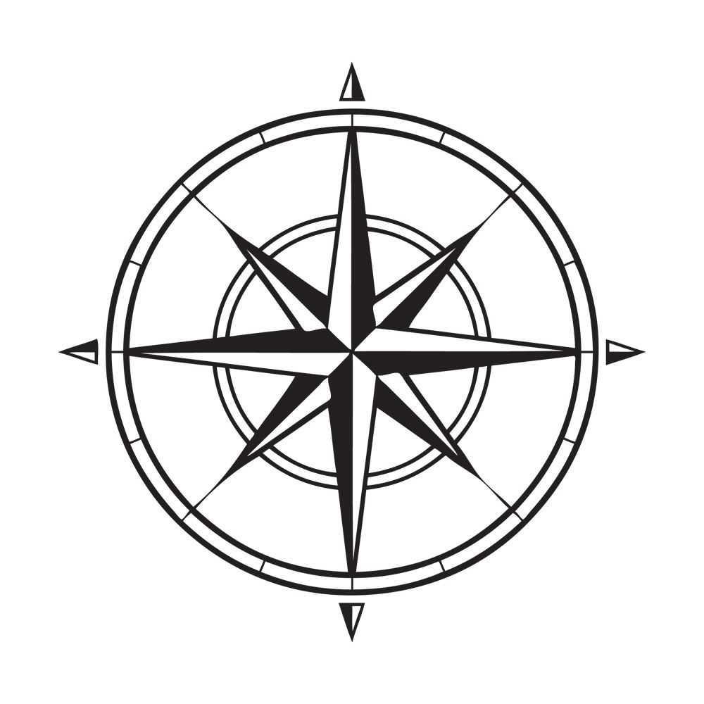 1000x1000 Impressive Compass Rose Coloring Page 9