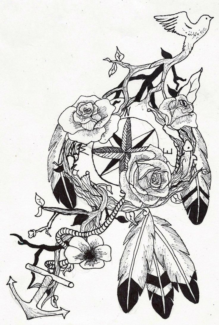 736x1091 Pin By Mary On Tattoos Tattoo, Feminine Compass