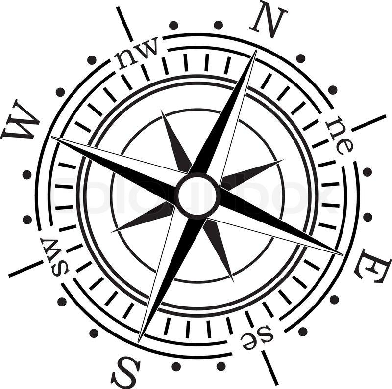 800x792 Vector Compass Stock Vector Colourbox