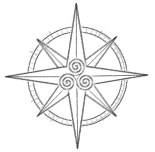 313x307 Celtic Style Compass Rose Curious Cartography