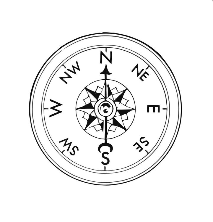 721x750 Coloring Page Compass