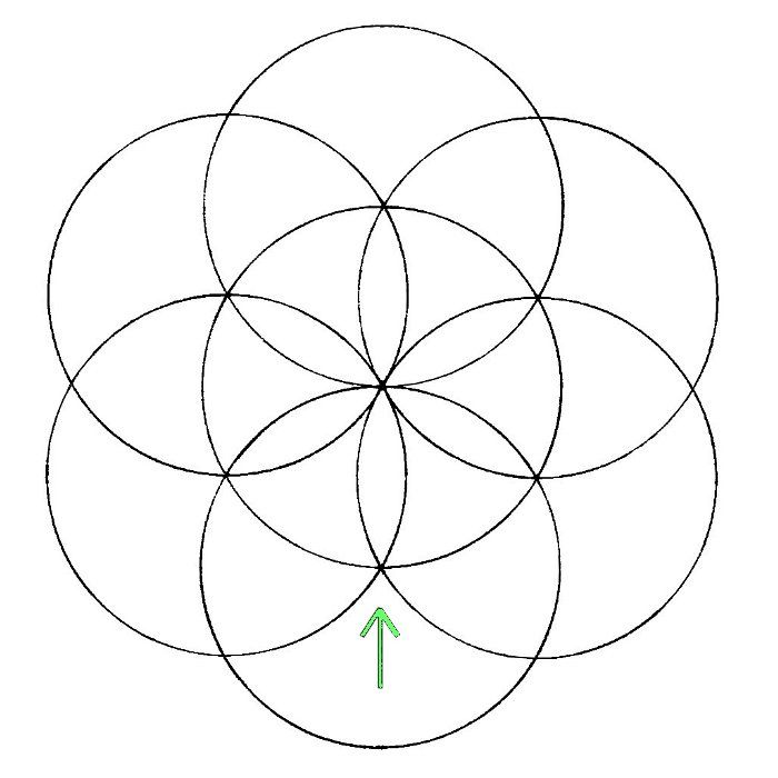 700x700 Flower Of Life How To Draw Flower, Drawings And Mandala