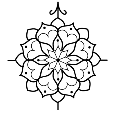 400x395 Tribal Compass Tattoo