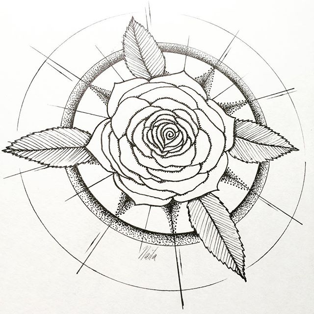 640x640 Additional Dotwork To The Rose Halo