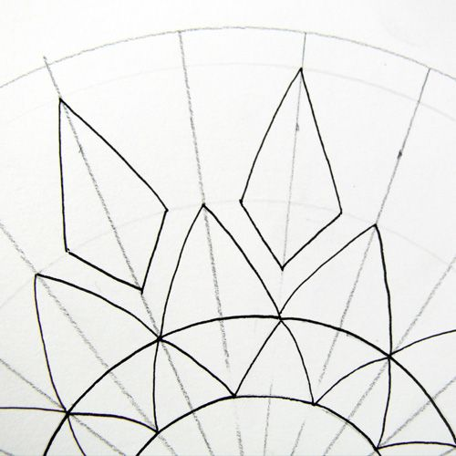 500x500 Drawing A Flower With Compass And Eight Petals
