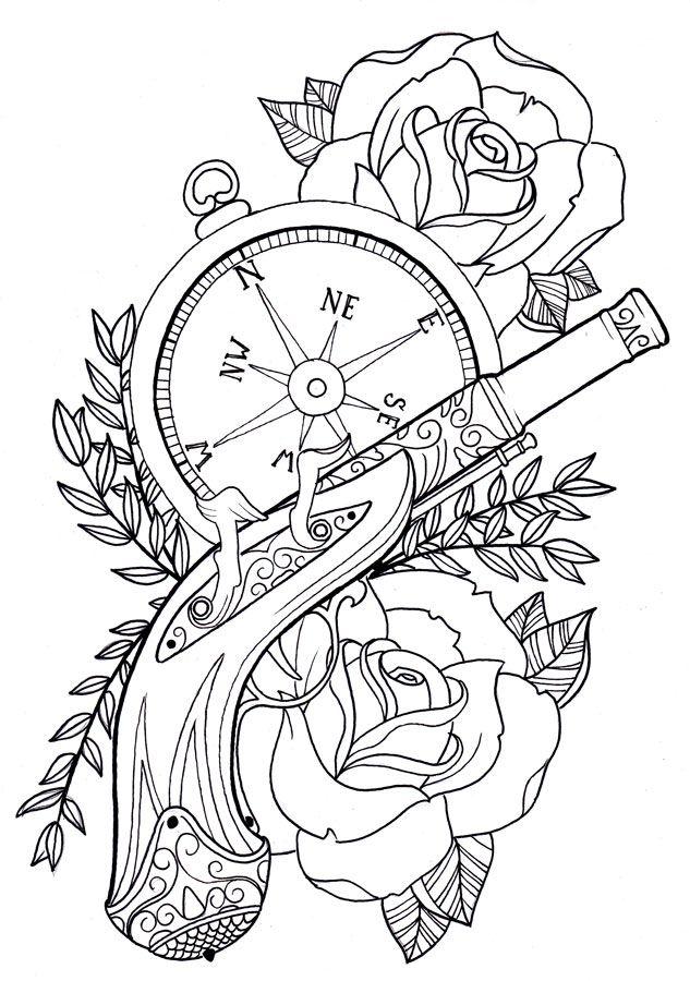 633x900 Tattoo Stencil Old School