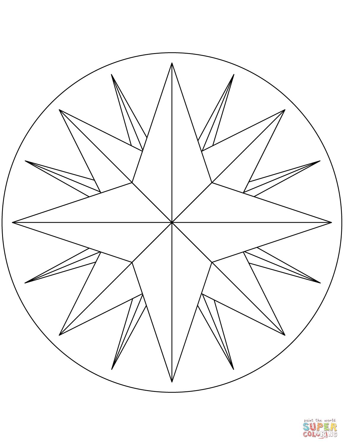 Compass Line Drawing