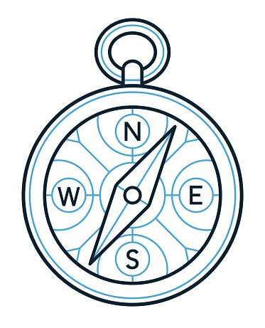 373x461 Compass Icon Outline Drawing Premium Clipart
