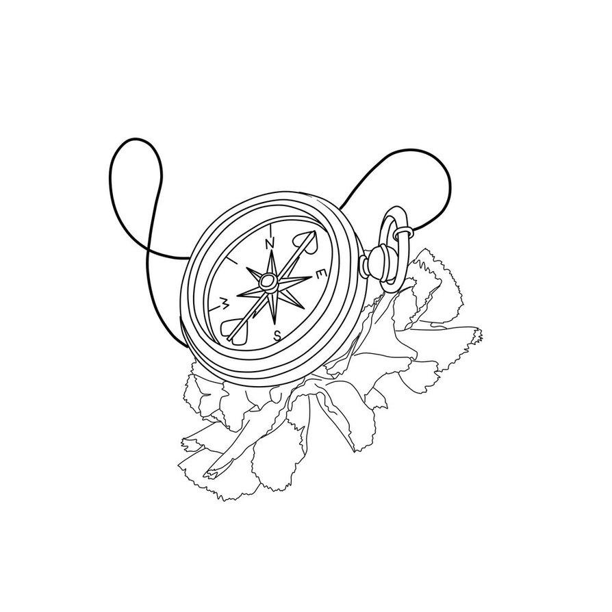 894x894 Compass Linework By Haileyukulele92