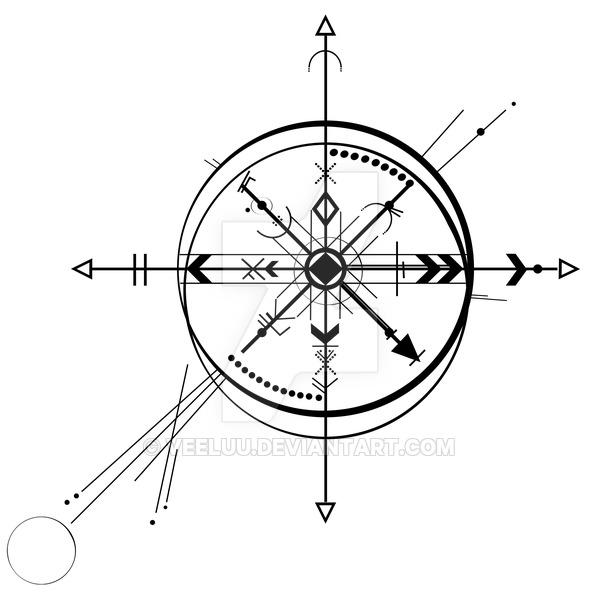 600x594 Compass Abstract By Veeluu