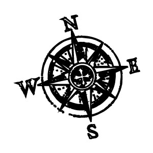 300x300 Free Clipart Compass Rose Line Drawing