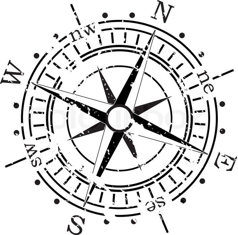800x789 Grunge Vector Compass Stock Vector Colourbox