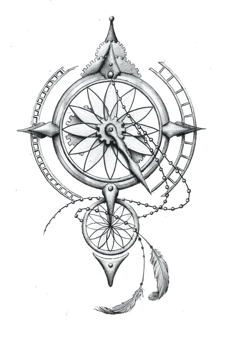 736x1098 Impressive Compass Rose Coloring Page 9