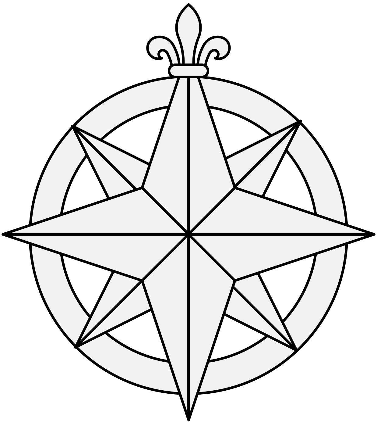1238x1397 Impressive Compass Rose Coloring Page 9