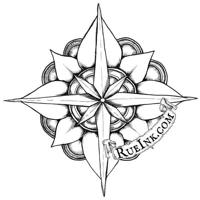 700x700 Mystic Heart Compass Deven Rue Cartography Amp Illustrations