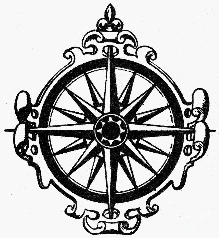 829x900 Symbol Compass Photograph By Granger