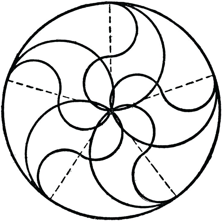736x733 Compass Circle Drawer Drawing Tangent Arcs With Compass